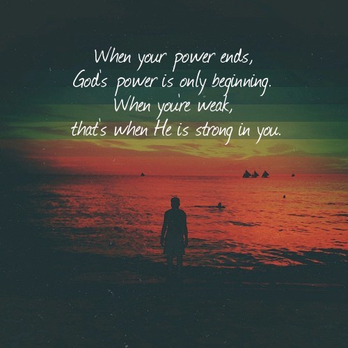 strong with god